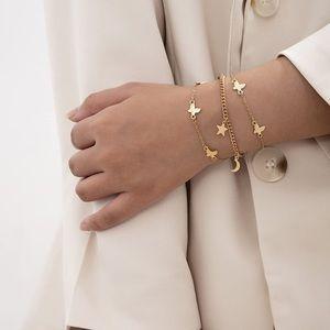 Gold Link Layered Bracelets NEW